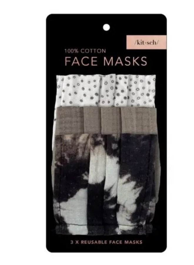 Cotton Mask 3pc Set- Neutral