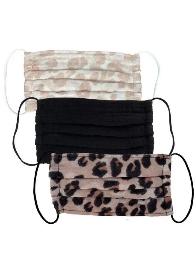 Cotton Mask 3pc Set- Leopard