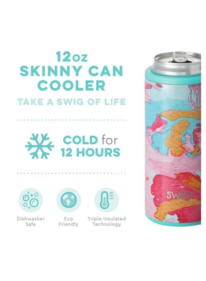 12oz Skinny Can Cooler- Cotton Candy