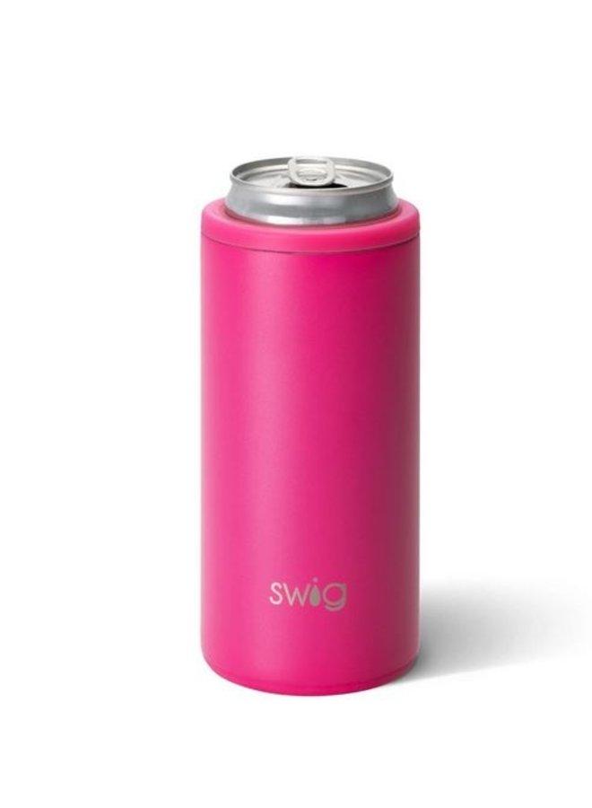 12oz SKinny Can Cooler - Matte Hot Pink