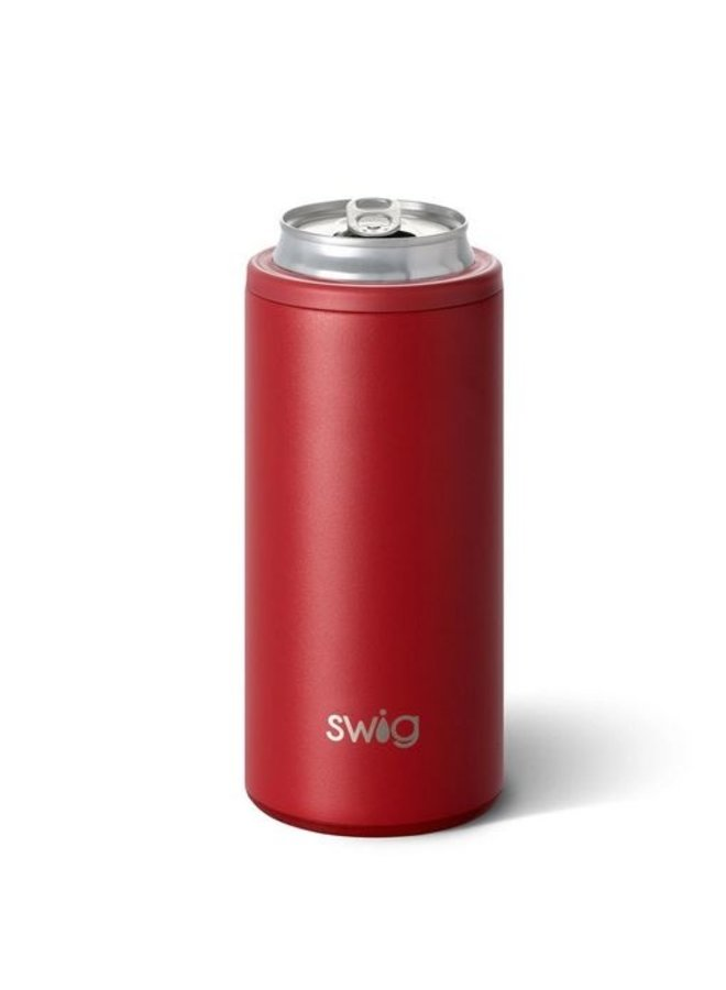 12oz SKinny Can Cooler - Matte Crimson
