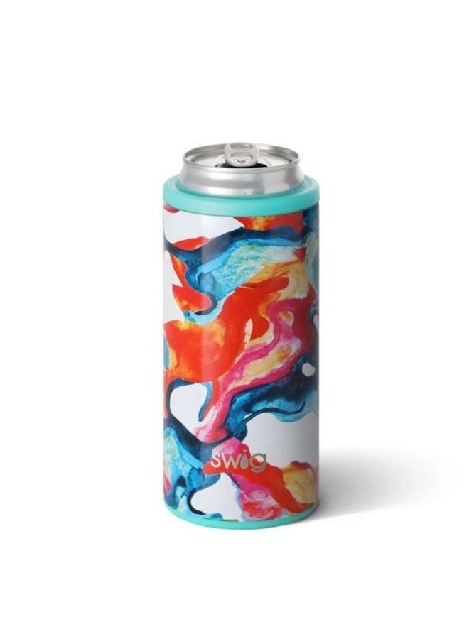 12oz SKinny Can Cooler - Color Swirl