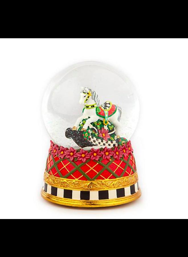 Carousel Horse Snow Globe