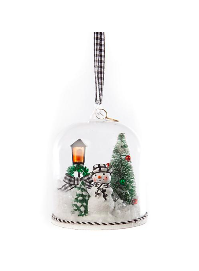 Happy Holidays Snowman Cloche Ornament