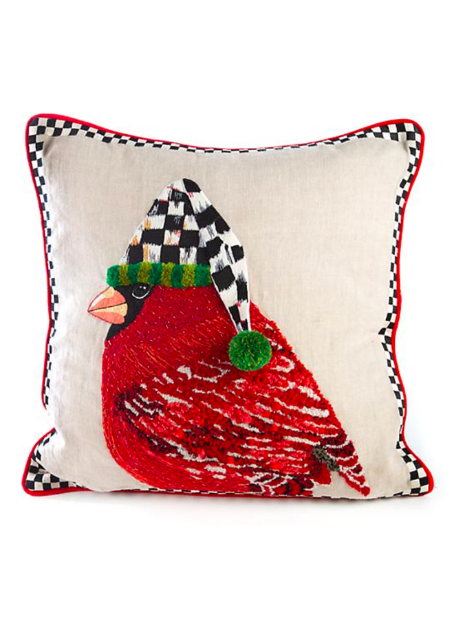 Night Cap Cardinal Pillow