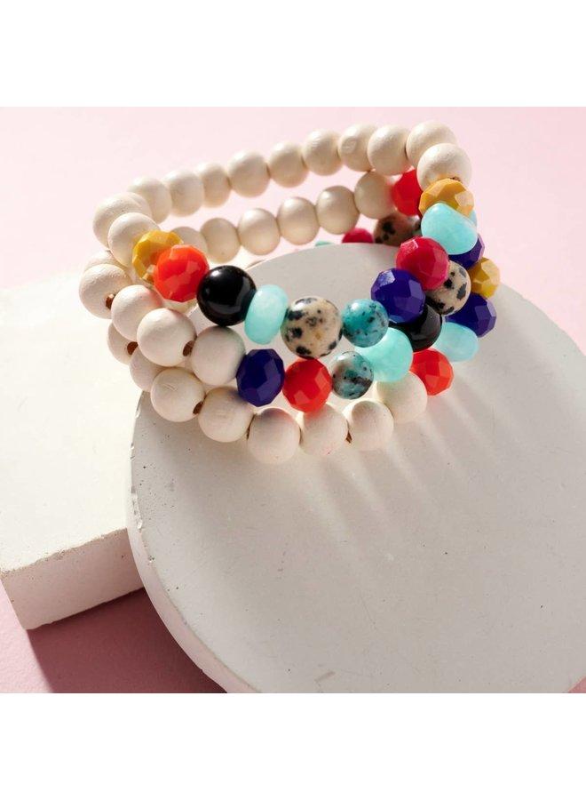 Colorful Beaded Bracelet-Set of 3