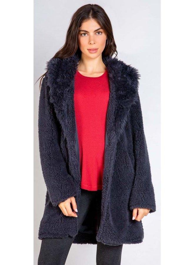 Charcoal Sherpa Jacket