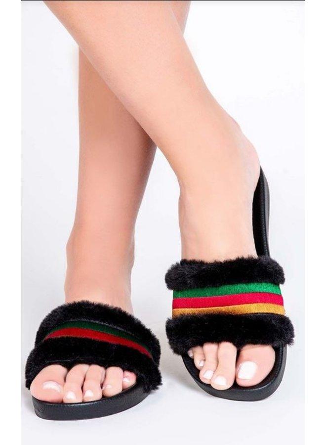 Ciao Bella Stripe Slides