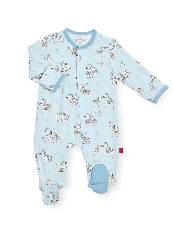 Blue Little One Magnetic Onesie