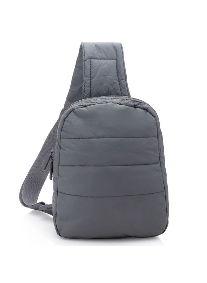 Puffer Crossbody Backpack - Cool Gray
