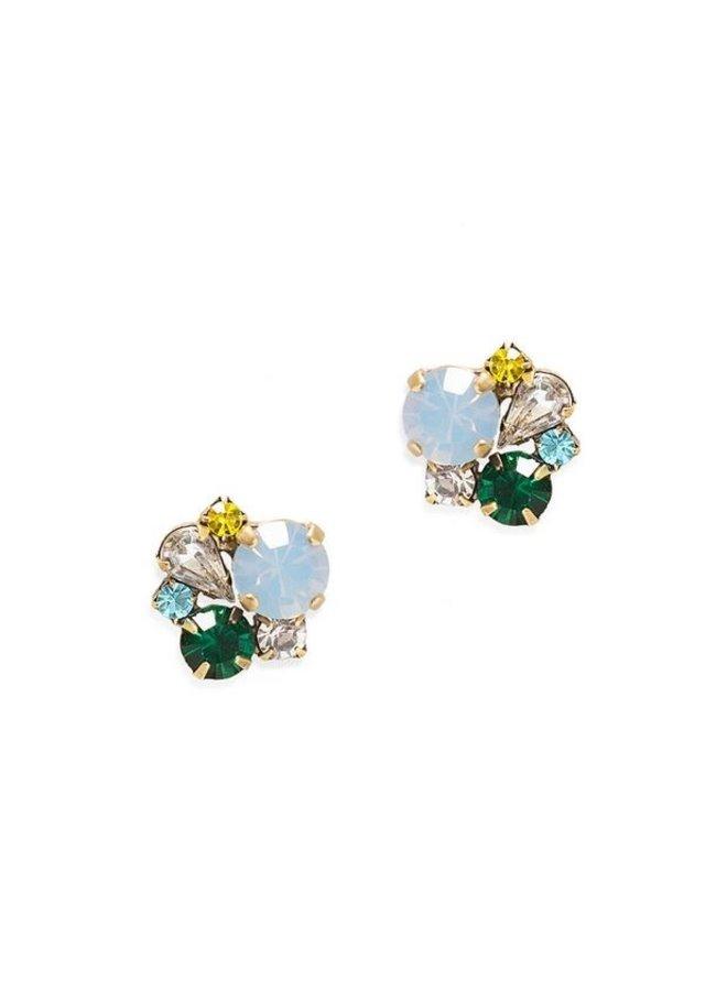 Jessie Stud Earring-Blue