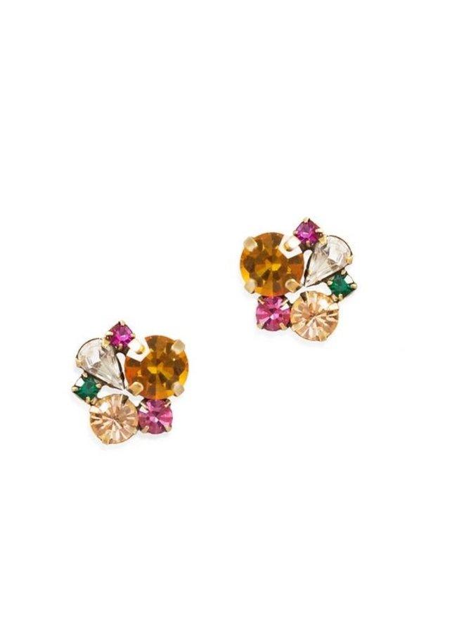 Jessie Stud Earring-Topaz