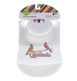 Chewbeads Chewbeads MLB Baby Gameday Bib with Crumb Catcher - St. Louis Cardinals