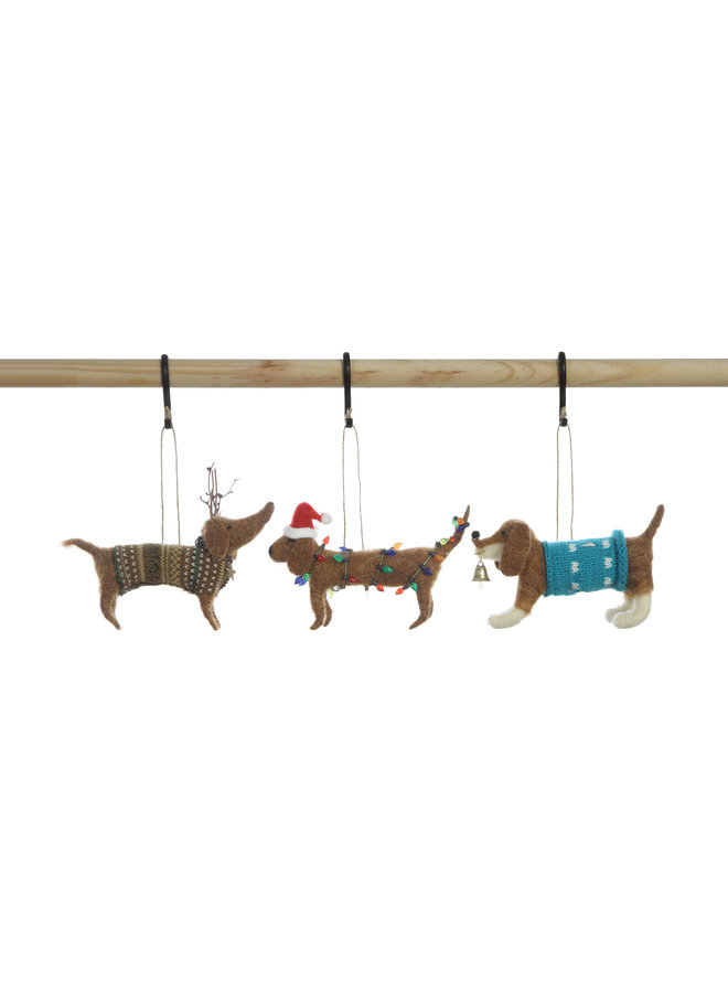 Wool Dog Ornament -
