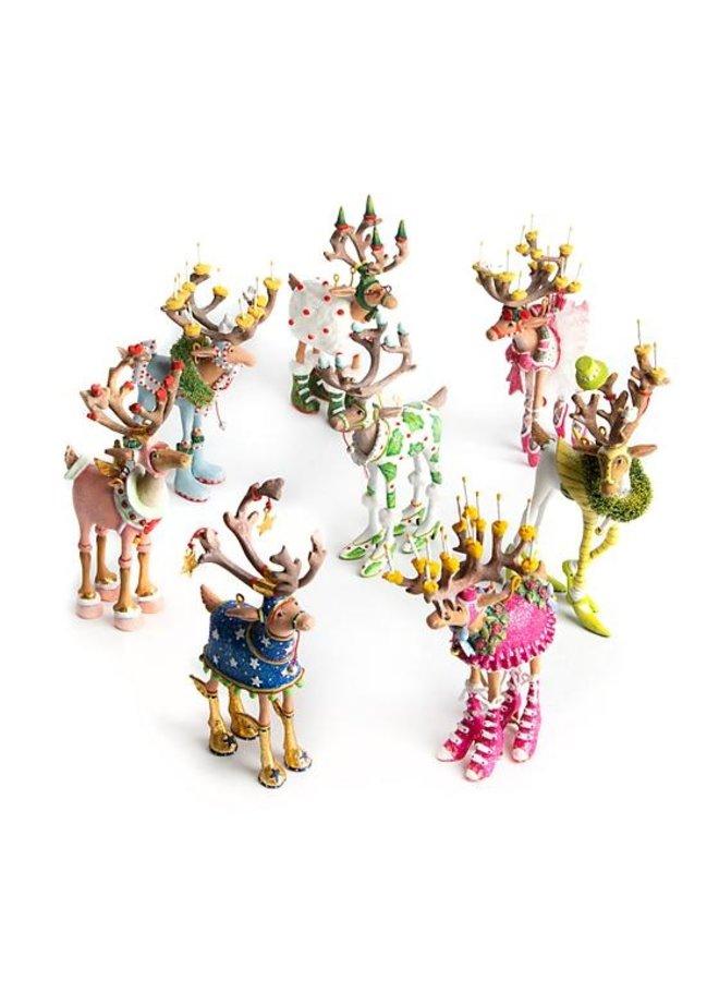 Patience Brewster Dash away Reindeer Mini Ornaments Set