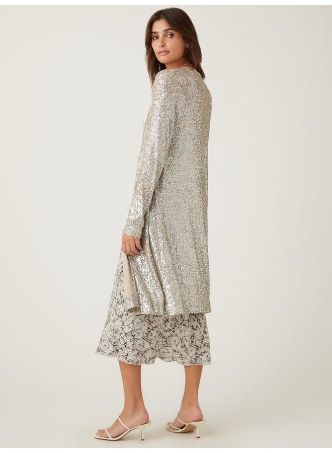 Sequin Duster- Champagne