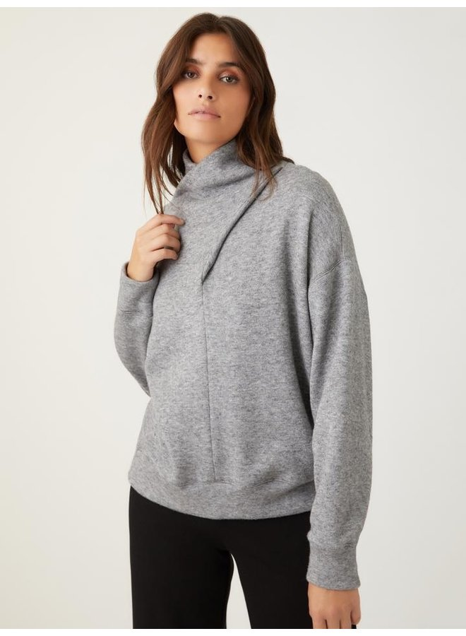 Faux Wrap Turtleneck