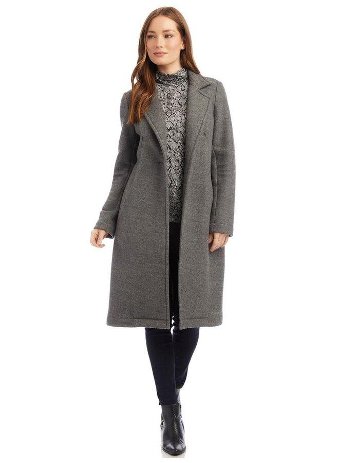 Fleece Coat-Gray