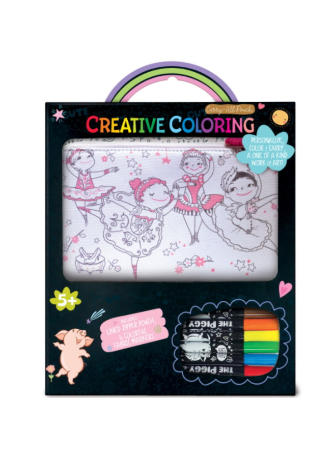Creative Coloring Carry All Pouch