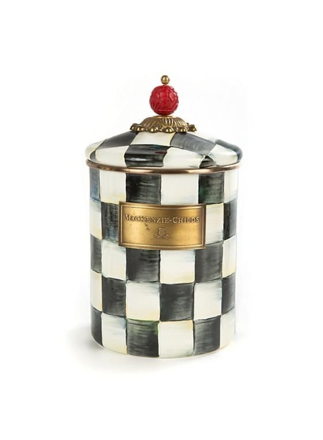Courtly Check Enamel Canister - Medium