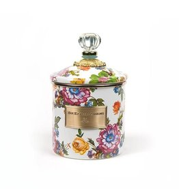 MacKenzie-Childs Flower Market Small Canister - White