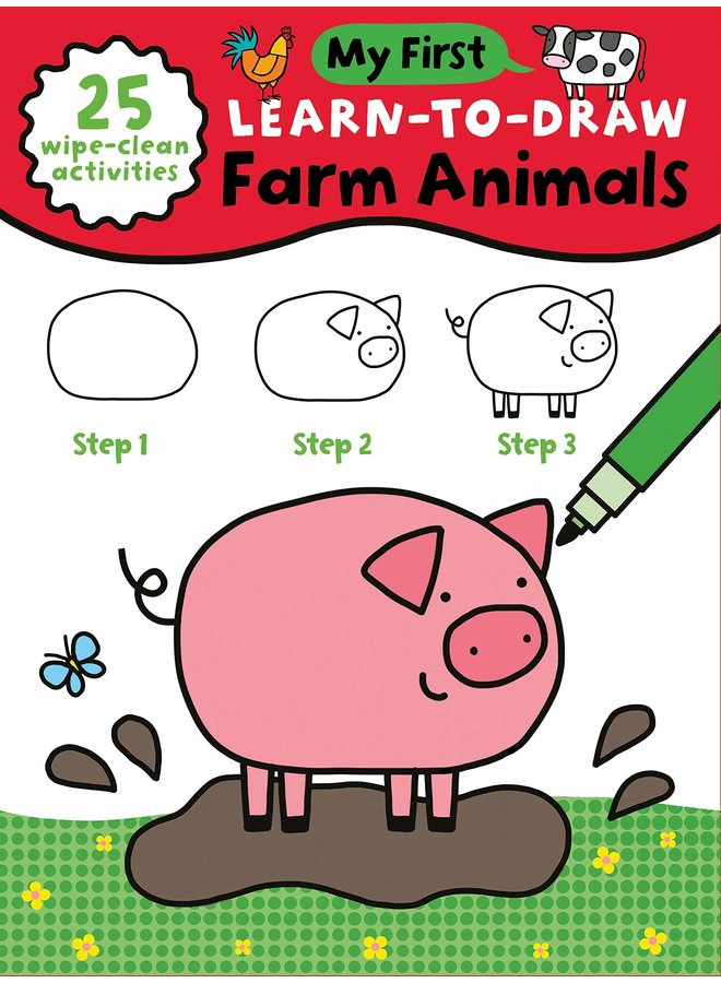 My First Learn-To-Draw Book : Farm Animals