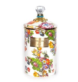 MacKenzie-Childs Flower Market Large Canister - White