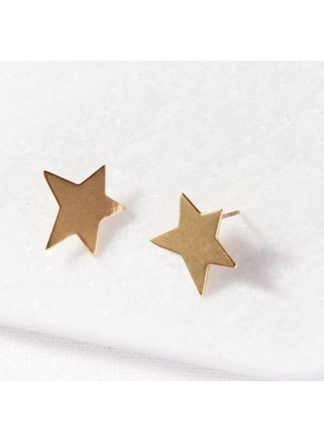 """Brass Star Earrings (.5"""")"""