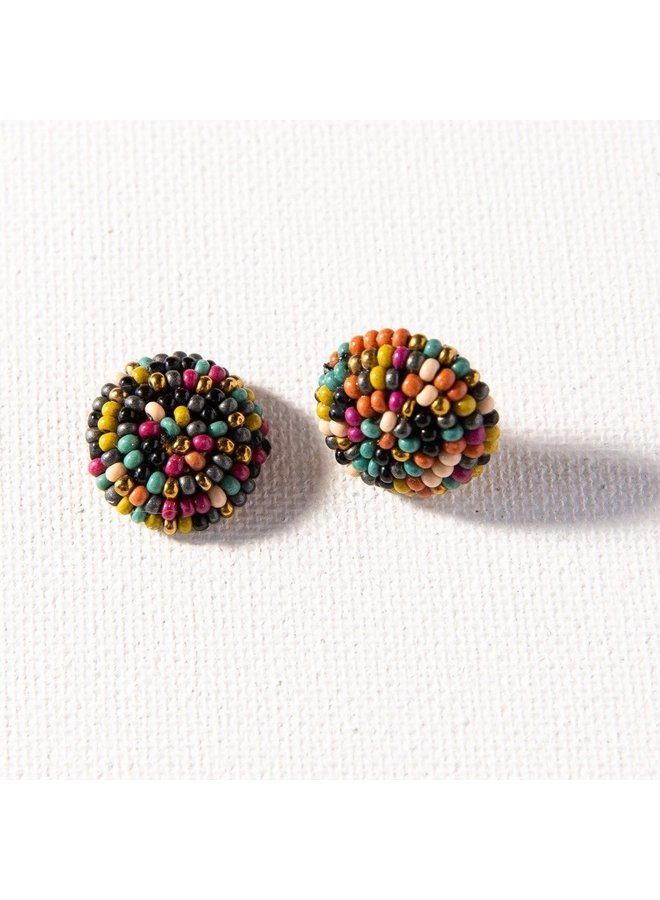 "Muted Confetti Small Post Earrings (.5"")"