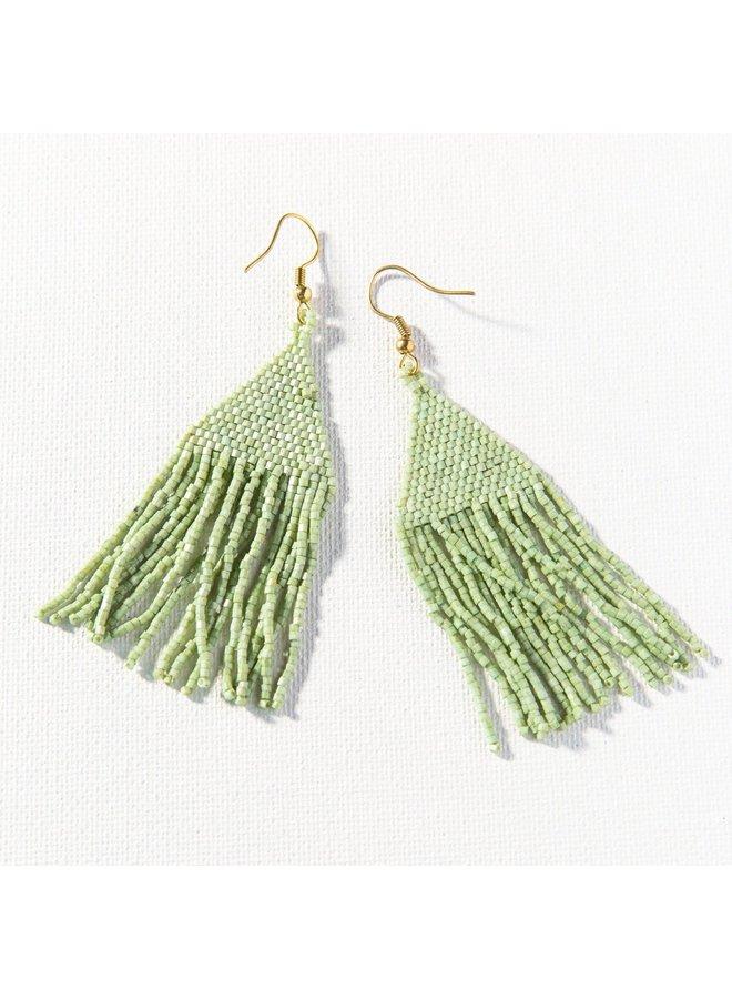 """Mint Luxe Petite Fringe Earrings (3.25"""")"""