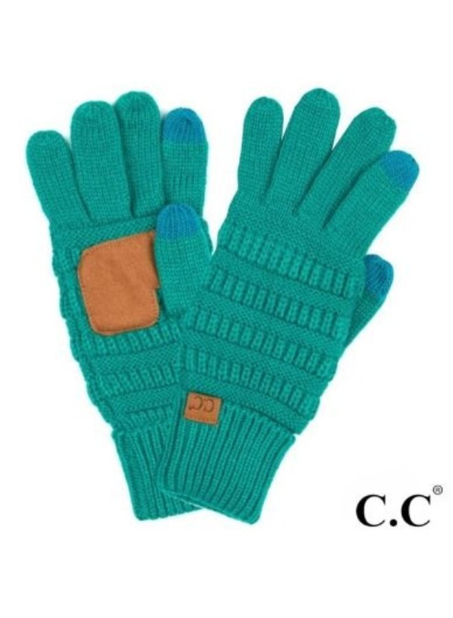Cable Knit Smart Touch Gloves