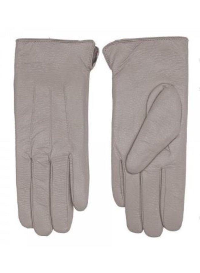 Mauve Faux Leather Gloves
