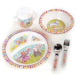 MacKenzie-Childs Toddler's Dinnerware Set - Bow Wow Meow