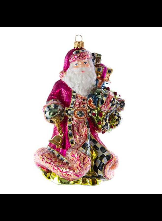 Glass Ornament - Paradise Santa