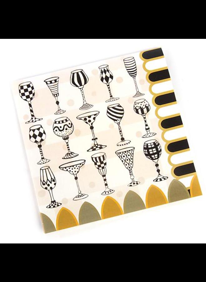 Golden Hour Paper Napkins - Cocktail