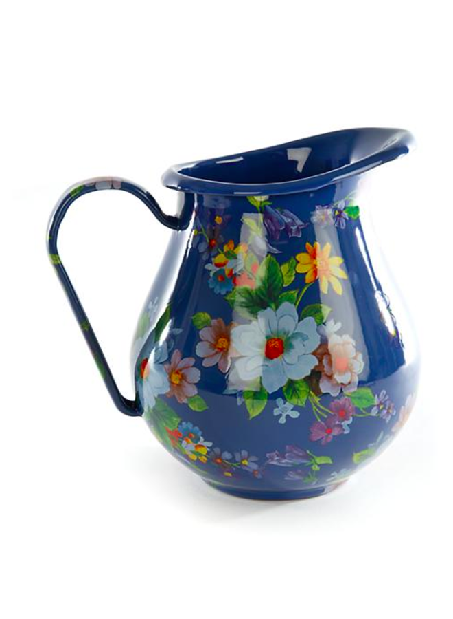 Flower Market Pitcher - Lapis