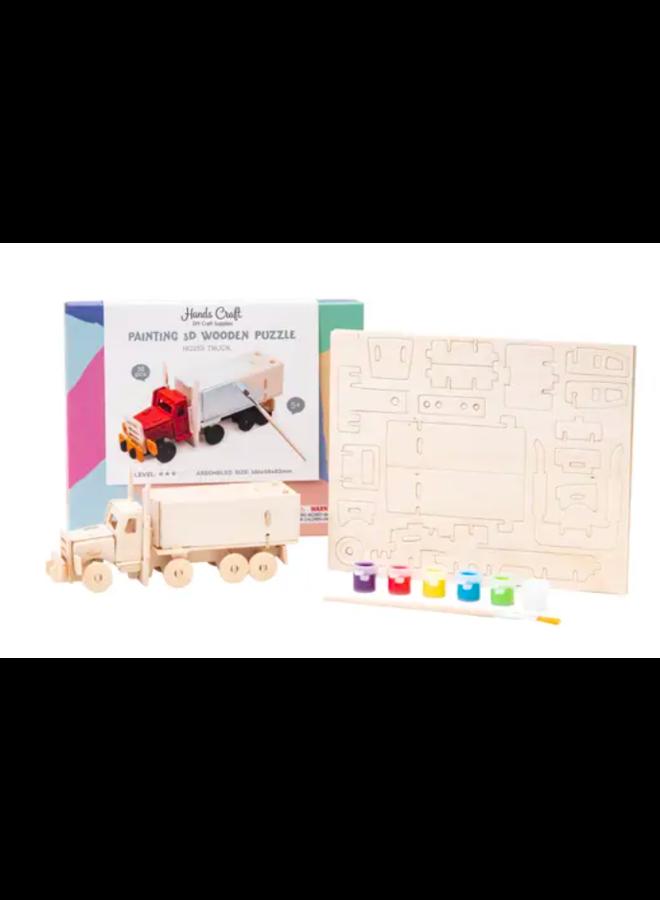 3D Wooden Puzzle Paint Kit : Truck
