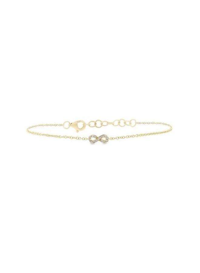 14K Yellow Gold and Diamond Infinity Bracelet (.04ct)