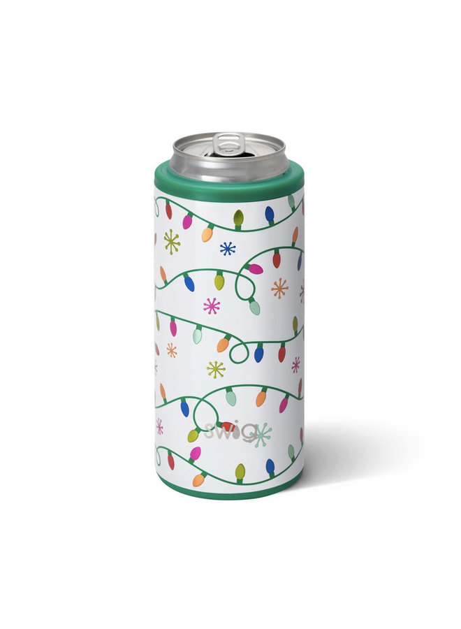 12oz Skinny Can Cooler - Let It Glow