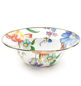 MacKenzie-Childs Flower Market Serving Bowl-White