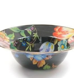MacKenzie-Childs Flower Market Serving Bowl-Black