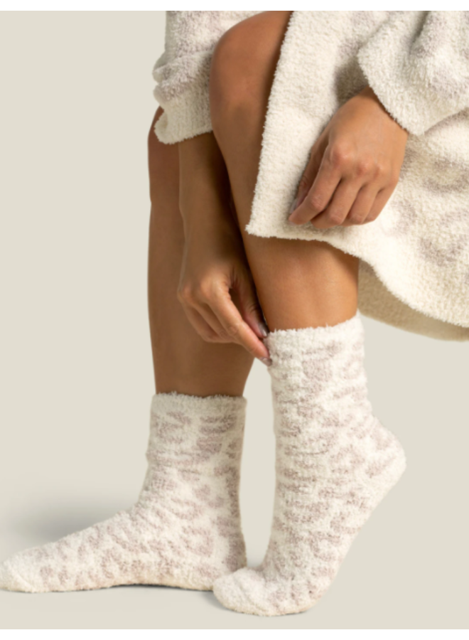Cozychic Barefoot in the Wild Socks - Cream/Stone