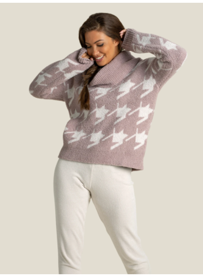 CozyChic Houndstooth Pullover -