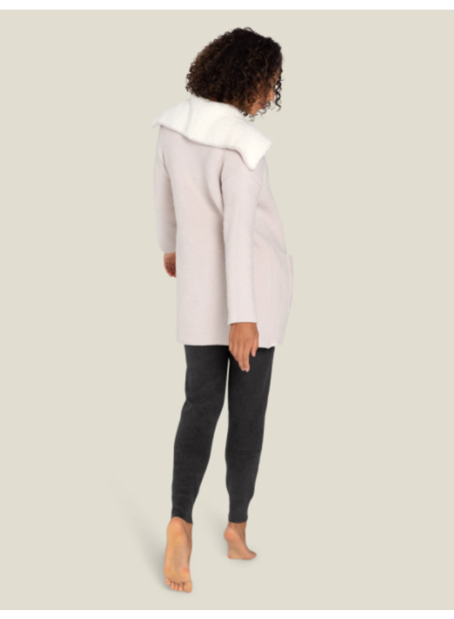 CozyChic Shearling Drape Car Coat -