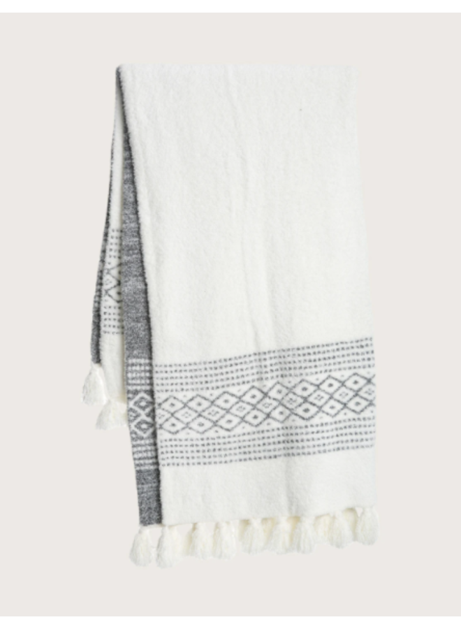 CozyChic Luxe Casa Throw - Pearl