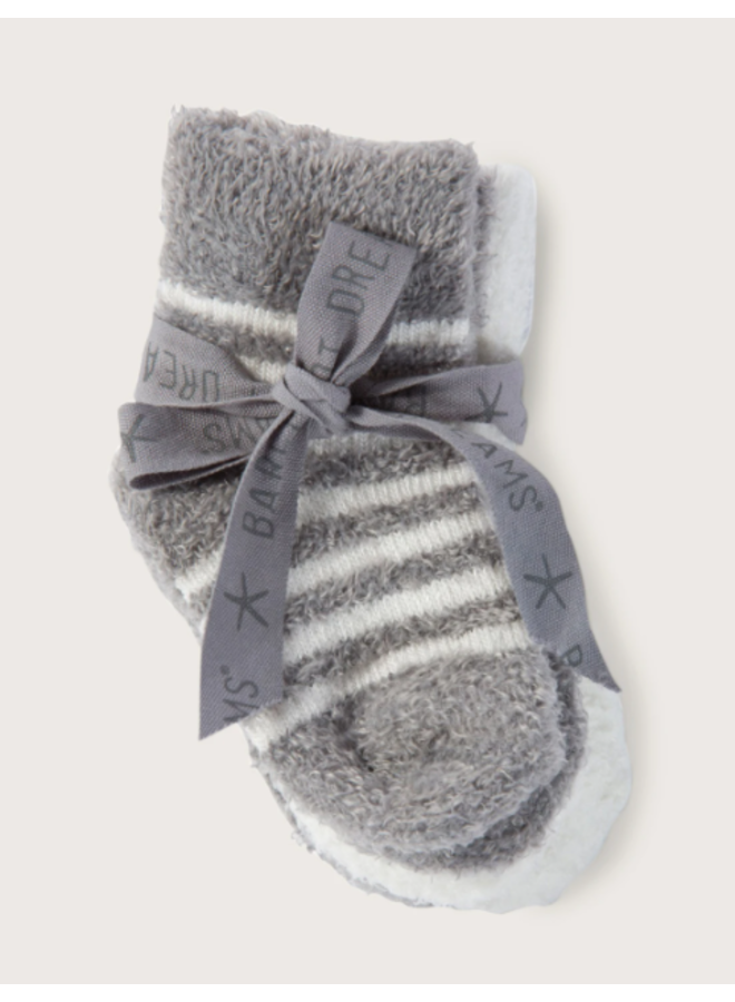 CozyChic Lite Infant Sock Set - Pewter Pearl