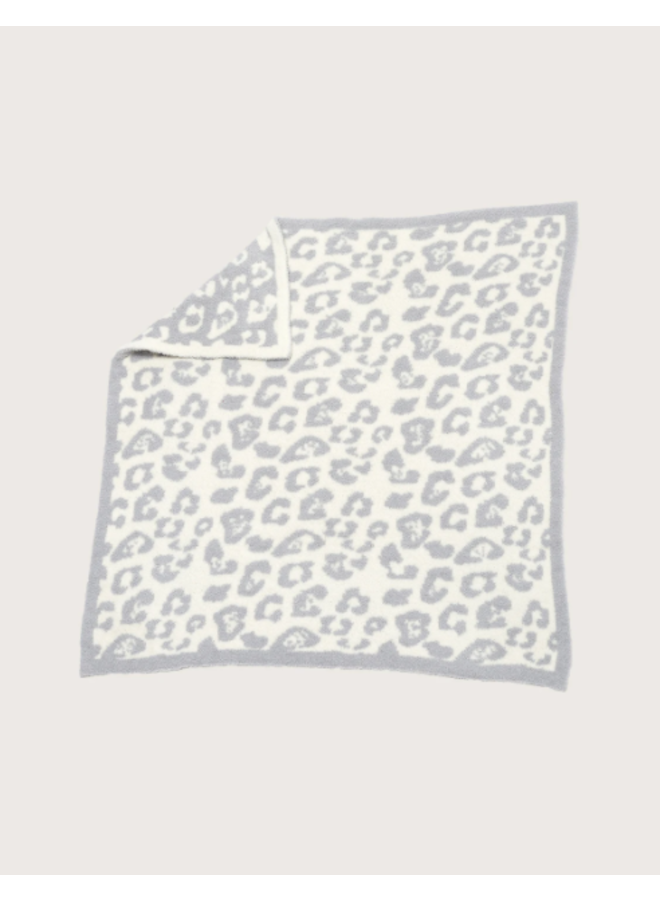 CozyChic Barefoot in the Wild Baby Blanket - Ocean/Cream