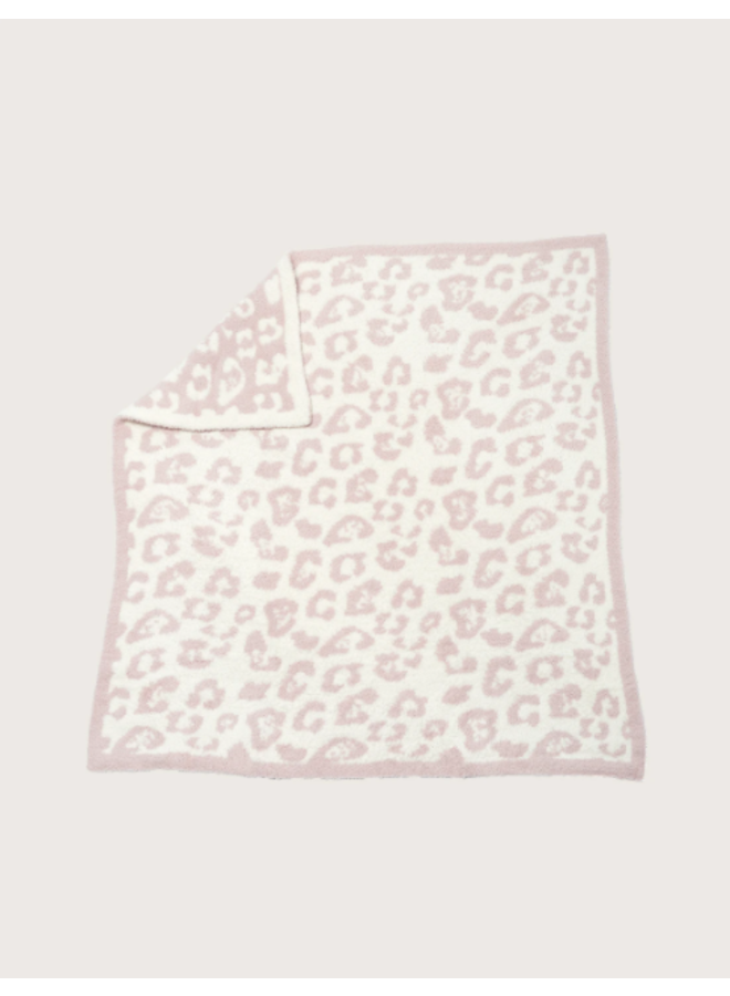 CozyChic Barefoot in the Wild Baby Blanket - Dusty Rose/Cream