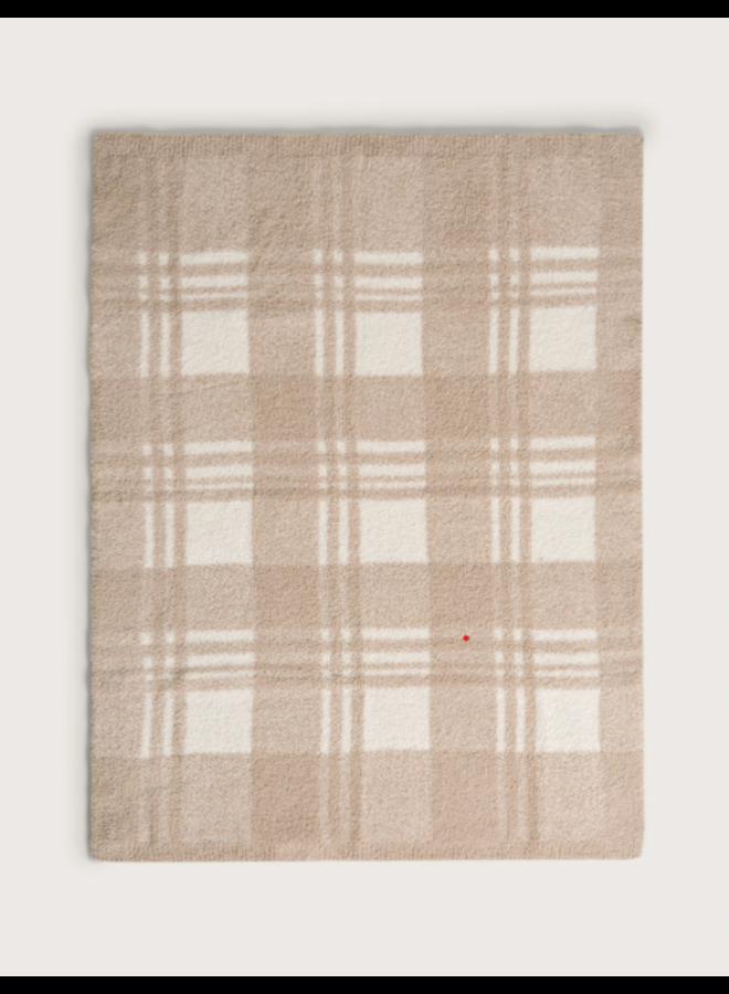 """CozyChic Plaid Stroller Blanket (30"""") - Cream/Tan"""