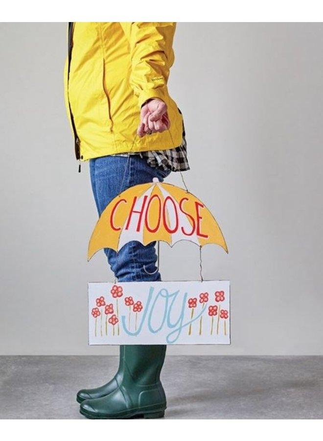 """Choose Joy"" Tin Wall Decor"